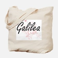 Galilea Artistic Name Design with Butterf Tote Bag