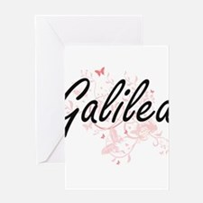 Galilea Artistic Name Design with B Greeting Cards