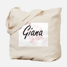 Giana Artistic Name Design with Butterfli Tote Bag