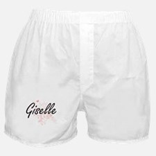 Giselle Artistic Name Design with But Boxer Shorts