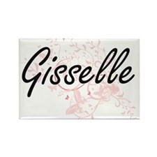Gisselle Artistic Name Design with Butterf Magnets