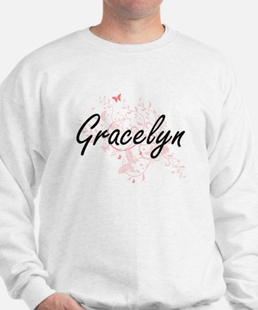 Gracelyn Artistic Name Design with Butt Sweater