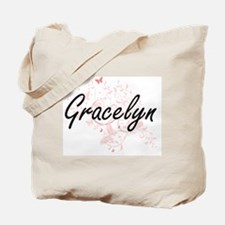 Gracelyn Artistic Name Design with Butter Tote Bag