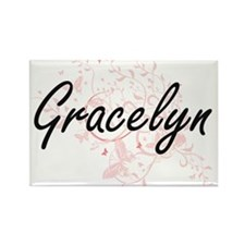 Gracelyn Artistic Name Design with Butterf Magnets