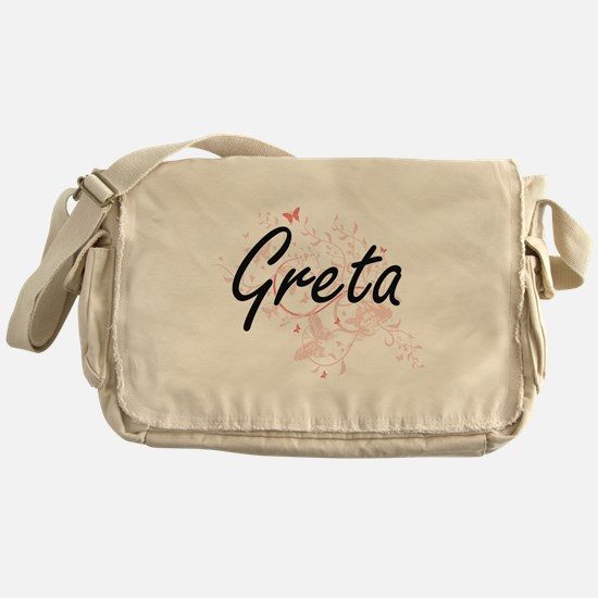 Greta Artistic Name Design with Butt Messenger Bag