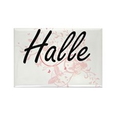 Halle Artistic Name Design with Butterflie Magnets