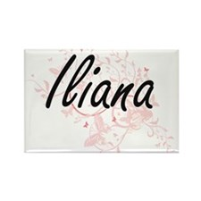 Iliana Artistic Name Design with Butterfli Magnets