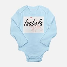 Isabela Artistic Name Design with Butter Body Suit