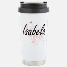 Isabela Artistic Name D Stainless Steel Travel Mug