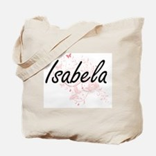 Isabela Artistic Name Design with Butterf Tote Bag