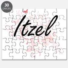 Itzel Artistic Name Design with Butterflies Puzzle
