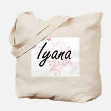 Iyana Artistic Name Design with Butterfli Tote Bag