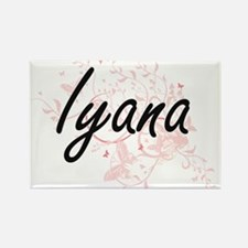Iyana Artistic Name Design with Butterflie Magnets