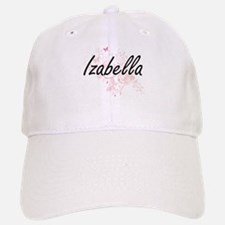 Izabella Artistic Name Design with Butterflies Cap