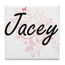 Jacey Artistic Name Design with Butte Tile Coaster