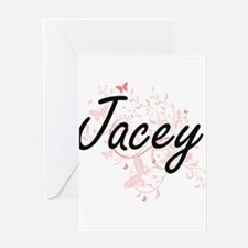 Jacey Artistic Name Design with But Greeting Cards