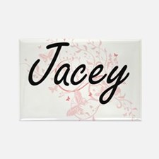 Jacey Artistic Name Design with Butterflie Magnets