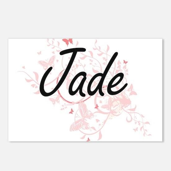 Jade Artistic Name Design Postcards (Package of 8)