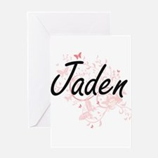 Jaden Artistic Name Design with But Greeting Cards