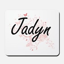 Jadyn Artistic Name Design with Butterfl Mousepad