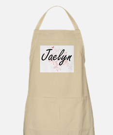 Jaelyn Artistic Name Design with Butterflies Apron