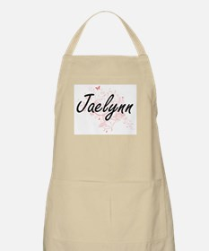 Jaelynn Artistic Name Design with Butterflie Apron