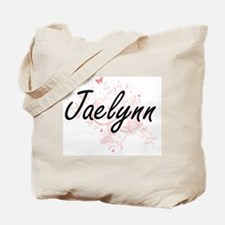 Jaelynn Artistic Name Design with Butterf Tote Bag