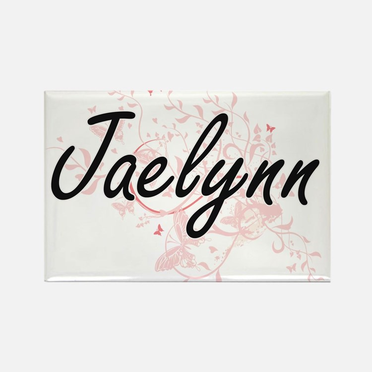Jaelynn Artistic Name Design with Butterfl Magnets
