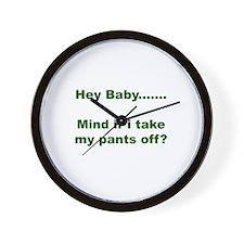 Take my pants off Wall Clock