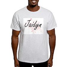 Jaidyn Artistic Name Design with Butterfli T-Shirt