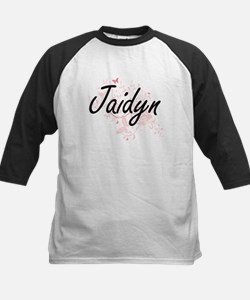Jaidyn Artistic Name Design with B Baseball Jersey