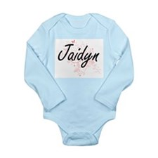 Jaidyn Artistic Name Design with Butterf Body Suit