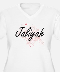 Jaliyah Artistic Name Design wit Plus Size T-Shirt