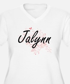 Jalynn Artistic Name Design with Plus Size T-Shirt