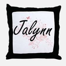 Jalynn Artistic Name Design with Butt Throw Pillow