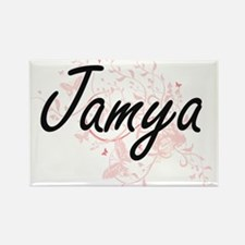 Jamya Artistic Name Design with Butterflie Magnets