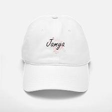 Jamya Artistic Name Design with Butterflies Baseball Baseball Cap