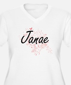 Janae Artistic Name Design with Plus Size T-Shirt