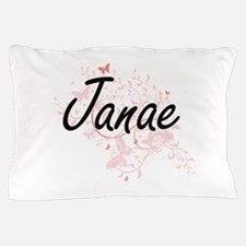 Janae Artistic Name Design with Butter Pillow Case