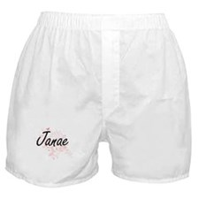 Janae Artistic Name Design with Butte Boxer Shorts
