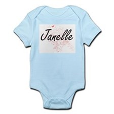 Janelle Artistic Name Design with Butter Body Suit