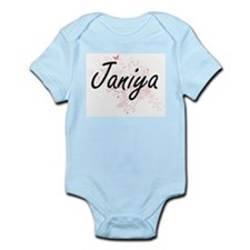 Janiya Artistic Name Design with Butterf Body Suit