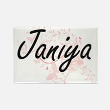 Janiya Artistic Name Design with Butterfli Magnets