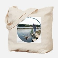 COOLING OFF AT THE LAKE Tote Bag