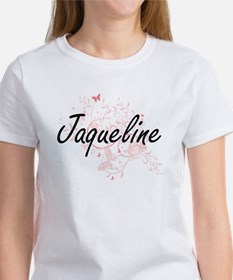 Jaqueline Artistic Name Design with Butter T-Shirt