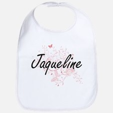 Jaqueline Artistic Name Design with Butterflie Bib