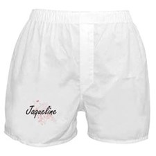Jaqueline Artistic Name Design with B Boxer Shorts