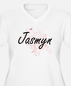 Jasmyn Artistic Name Design with Plus Size T-Shirt