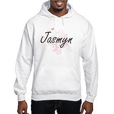 Jasmyn Artistic Name Design with Hoodie Sweatshirt