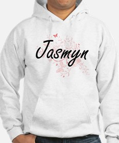 Jasmyn Artistic Name Design with Hoodie Sweatshirt